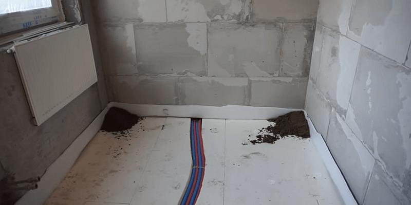 Механизированная полусухая стяжка пола