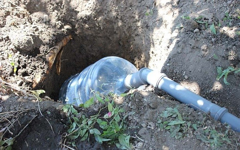 Простой способ отвода сточных вод в землю