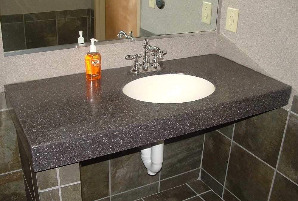 Столешница в ванную комнату