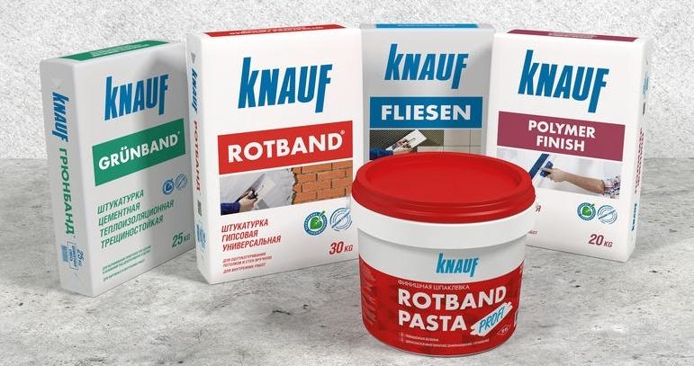 Строительные смеси Knauf