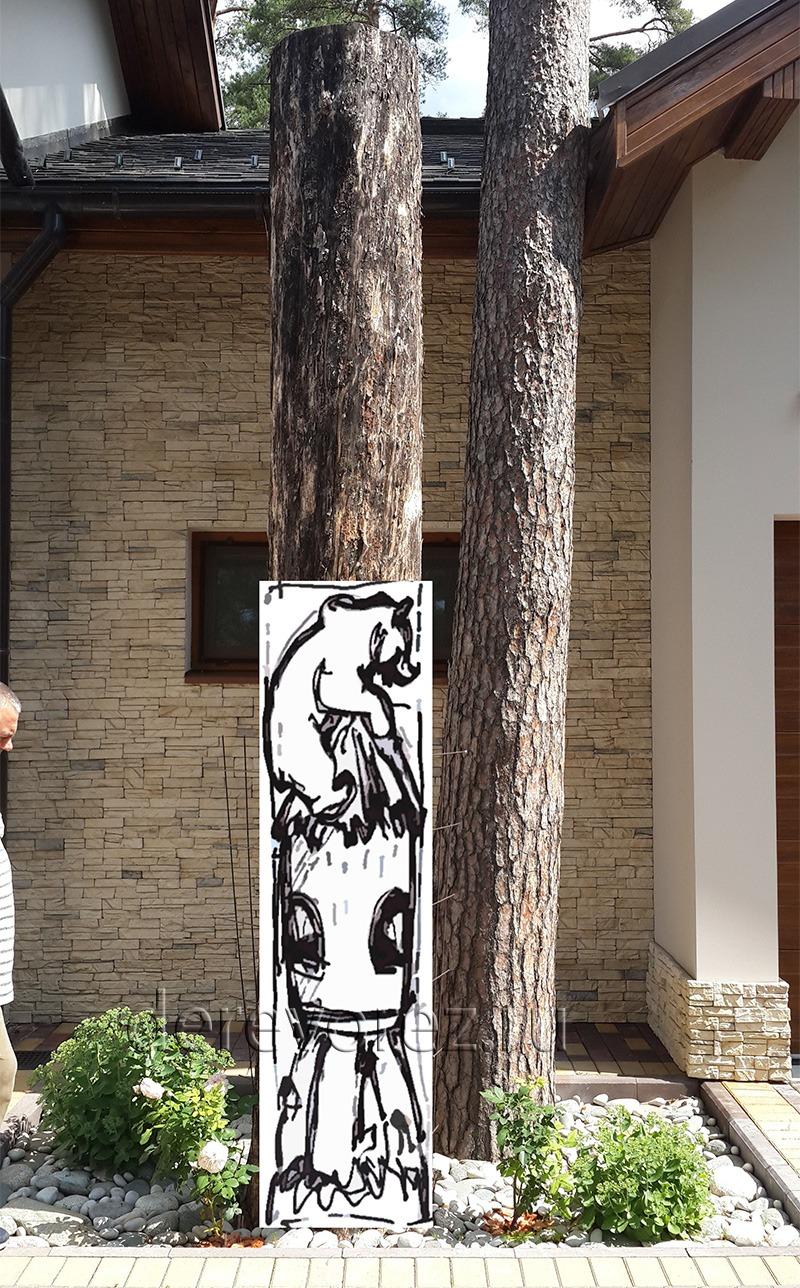 Деревянная скульптура из пня