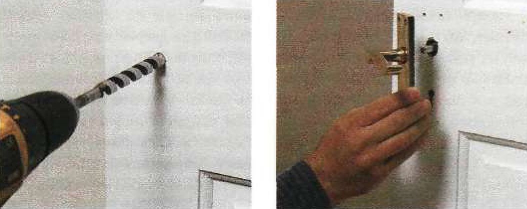 Установка на новом месте защелкивающегося дверного замка с ручкой