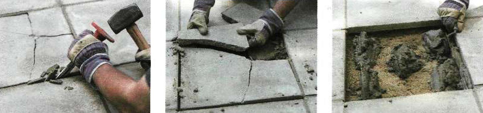 Замена бетонной тротуарной плитки