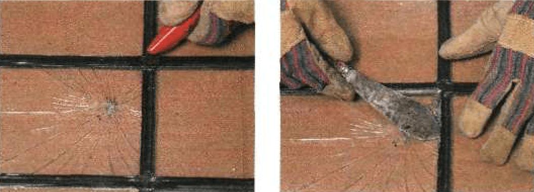 Замена стекол в оконном переплете со свинцовыми горбыльками