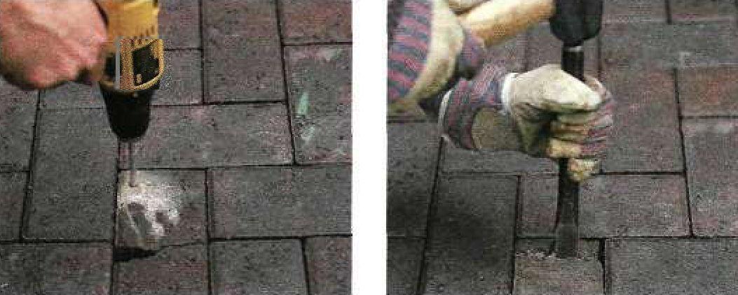 Замена поврежденного блока покрытия