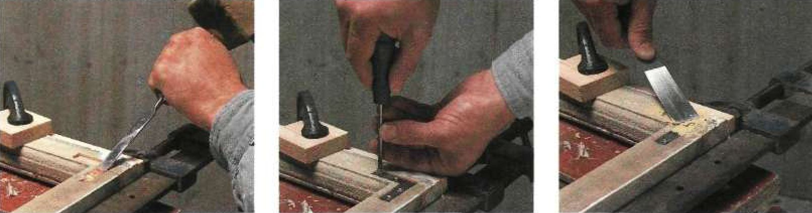Усиление створки металлическими угловыми накладками