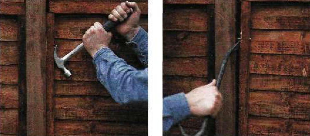 Замена секции деревянного забора