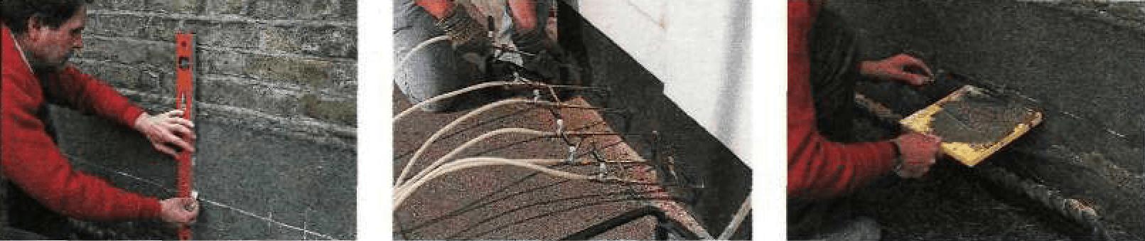 Установка гидроизоляционной прослойки