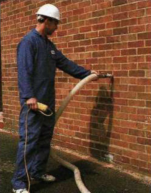 Заполнение пустотелых стен теплоизоляционным материалом