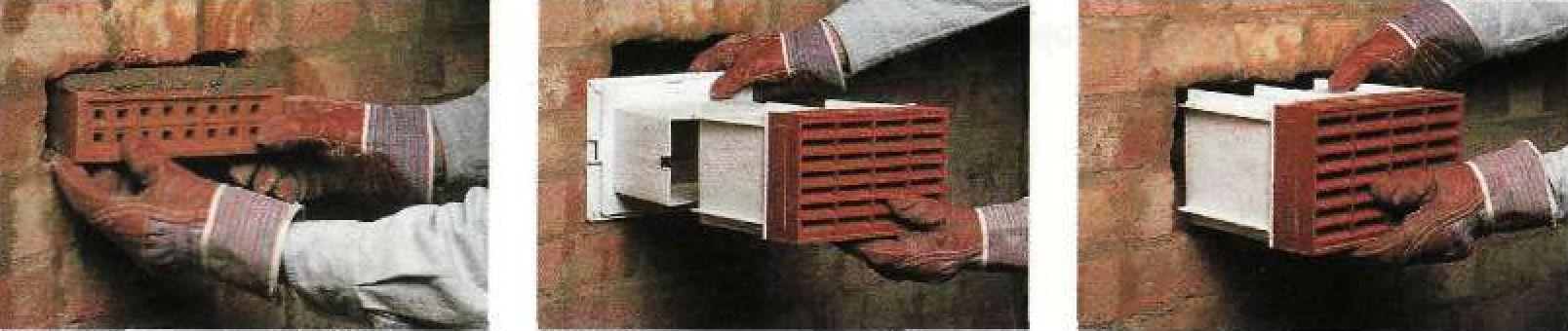 Установка вентиляционных (пустотелых) кирпичей