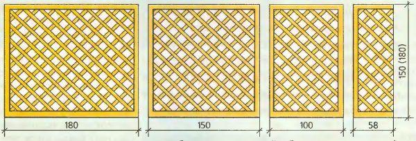 Из таких элементов можно возвести беседку и внутренний забор