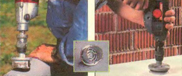 Цифенбором или кольцевой пилой вырезают отверстия в камне, металле, гипсокартоне и мебельных плитах. Они представлены различными диаметрами и конфигурацией зубьев. Цифенбору с алмазной крошкой по силам камень и металл. Незаменимы при установке в стенах монтажных коробок для электропроводки.