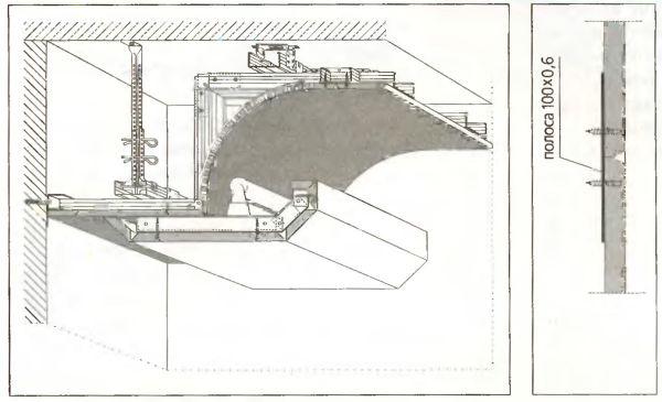 Криволинейные формы малого радиуса от 100, до 400 мм создают по сухой технологии