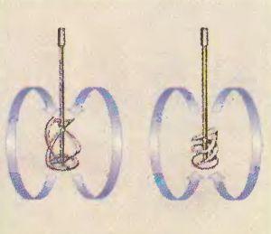 Мешалки имеют специализацию: для вязких растворов - одна конструкция лопастей для текучих - двумя. Создаются разные потоки перемешивания.