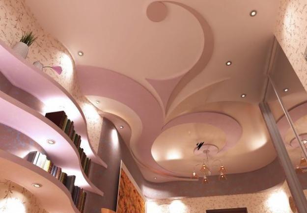 Создание столь сложных по конструкции и красивых потолков стало намного доступней, благодаря новым технологиям изготовления криволинейных форм из обычного листового гипсокартона.