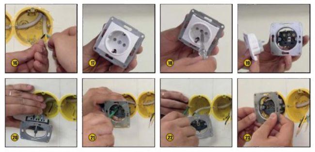 Подключение электро-установочных изделий