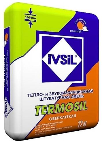 Теплоизоляционная и звукоизоляционная штукатурка Ivsil Termosil