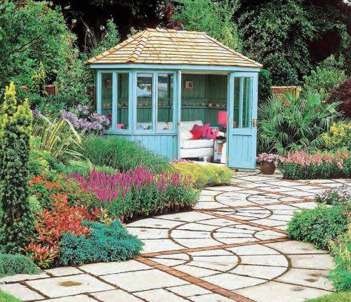Классический английский садовый павильон