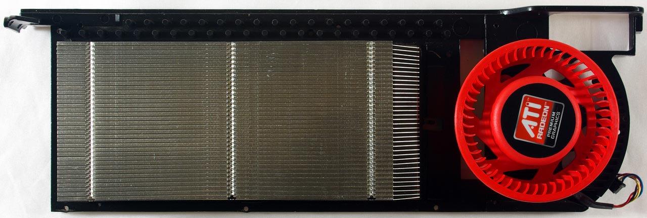 Так выглядит система охлаждения Radeon 5970 без самой платы