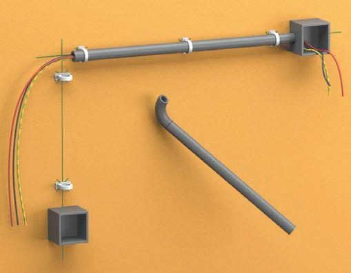 Шаг шестой: протяните провод сквозь трубы и окончательно установите их