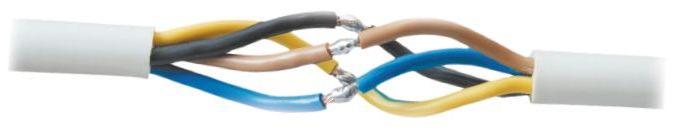 При соединении проводов необходимо ориентироваться на цвет изоляции ТПЖ