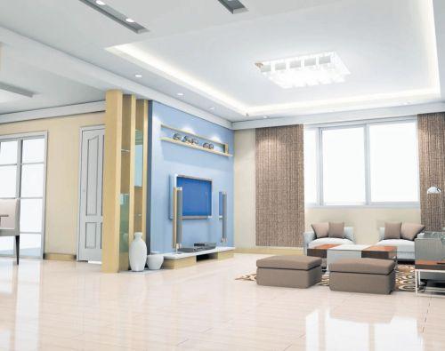 Вариант дизайна помещения с использованием светильников разного типа