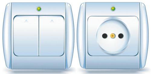 Розетка и выключатель