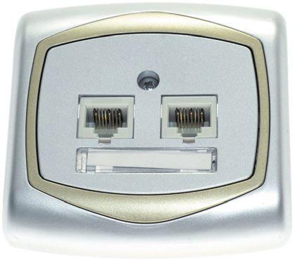 Компьютерная розетка с двумя гнездами
