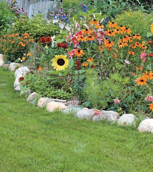 Садовый бордюр на даче