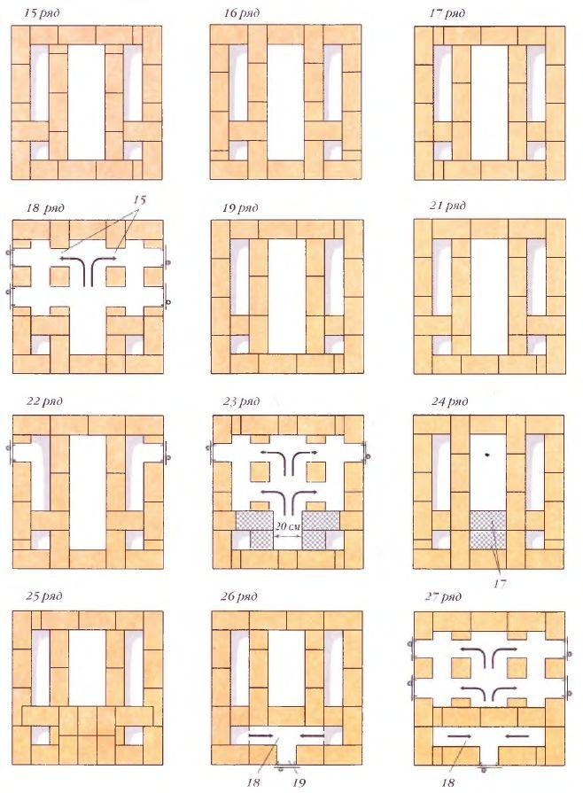 Порядовки (ряды 15-19, 21-27)