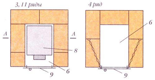 Порядовки (ряды 3,4 и 11)