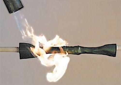 Термоусадочная трубка, обрабатываемая пламенем горелки