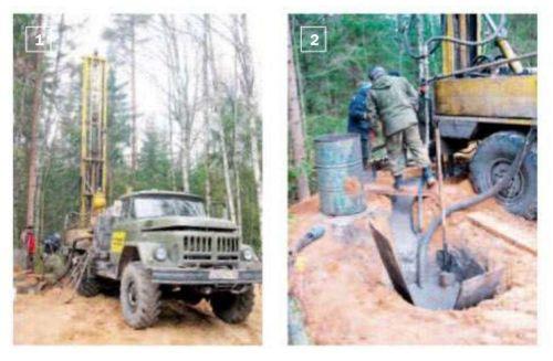 1, 2. В соответствии с проектом для установки геотермального зонда на участке пробурили 12 скважин глубиной 40 м