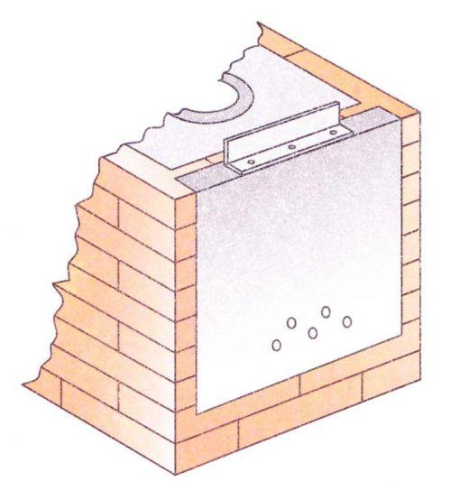 Использование листа железа с отверстиями вместо топочной дверки