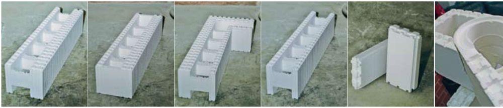 Форма пенополистирольных блоков может быть самая разная