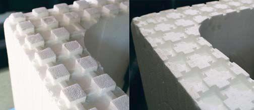Форма пенополистирольных блоков
