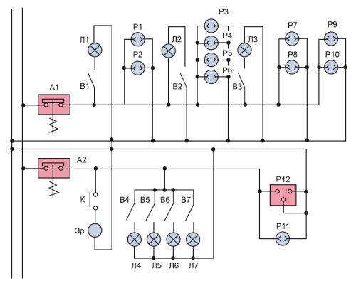Пример принципиальной схемы электроснабжения квартиры