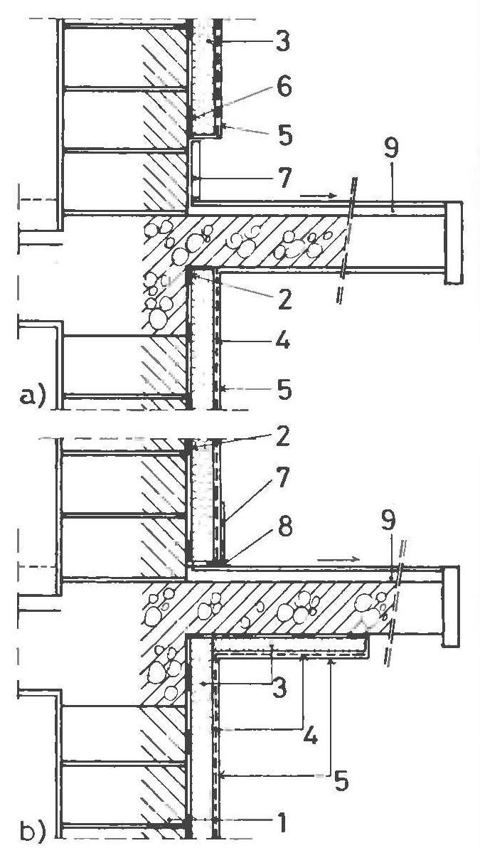 Соединение балкона и однооболочной системы теплоизоляции фасада, снижающее действие теплового моста