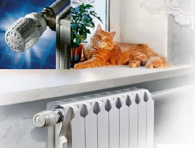 Непосредственно на отопительных приборах устанавливаются ручные либо электронные автоматические терморегуляторы.