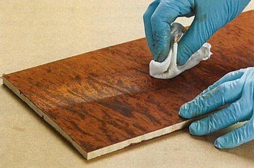 Корректировка результата тонирования древесины