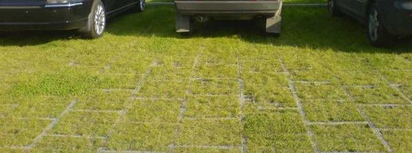 Экопарковка с помощью газонной решетки
