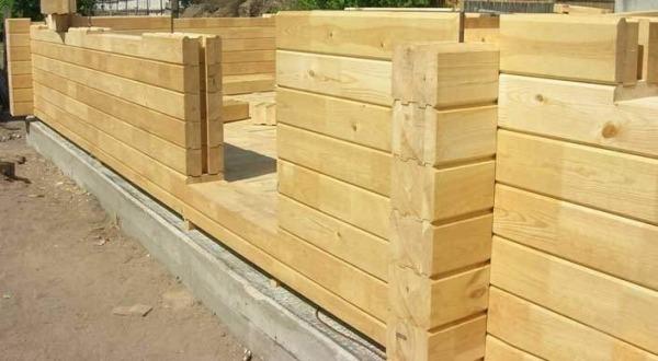 Строительство дома из профилированного клееного бруса