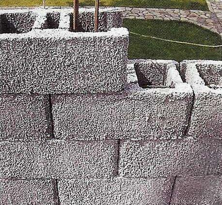 Укладка блоков из полистиролбетона