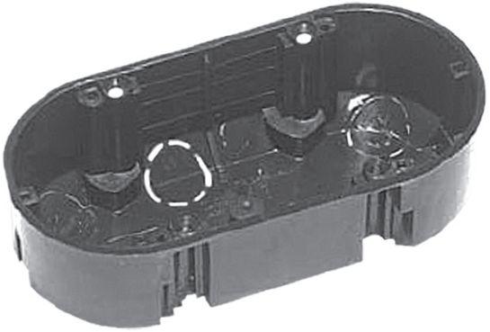 Установочная двухместная коробка для двух розеточных колодок сразу