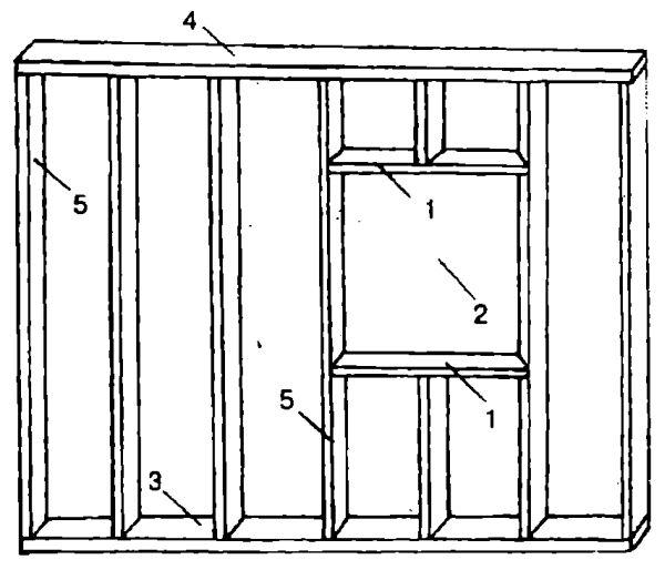 Фрагмент каркаса веранды