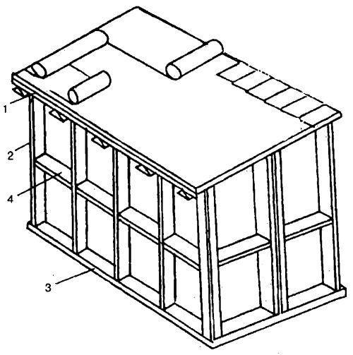 Каркасная конструкция веранды