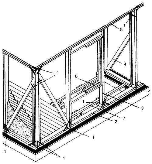 Оптимальная конструкция каркасной веранды