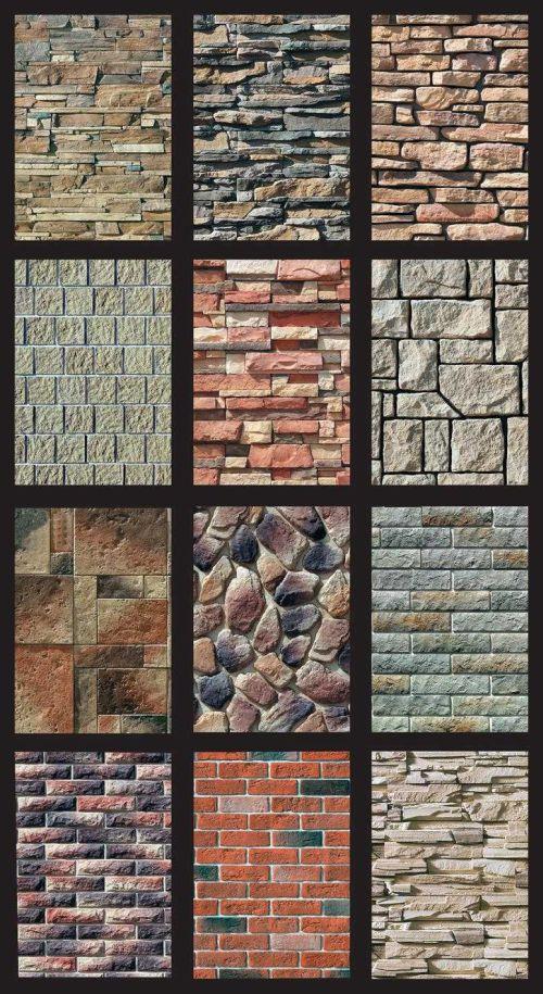 Разнообразие цветов и форм искусственного камня