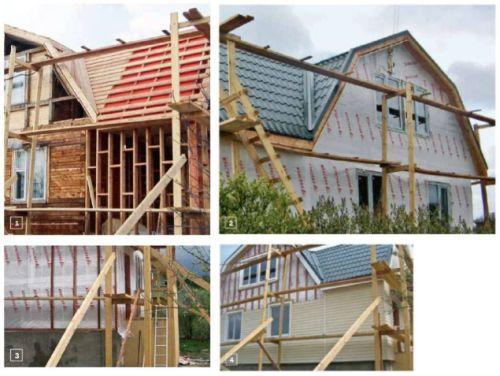Перестройка крыши и фасадные работы