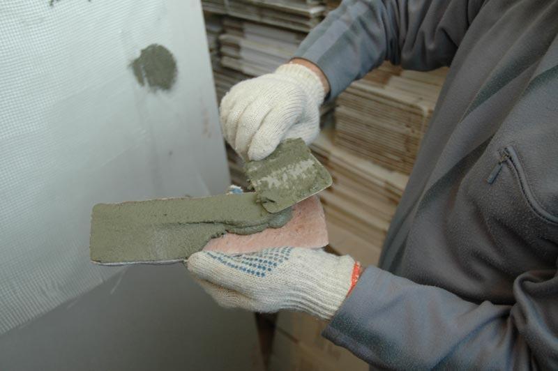 Облицовка стены искусственным камнем